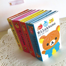 лучшая цена Cute Easy Bear 6 Folding Memo Pad N Times Sticky Notes Memo Notepad Bookmark Gift Stationery 240 pages Multi Folding Writing