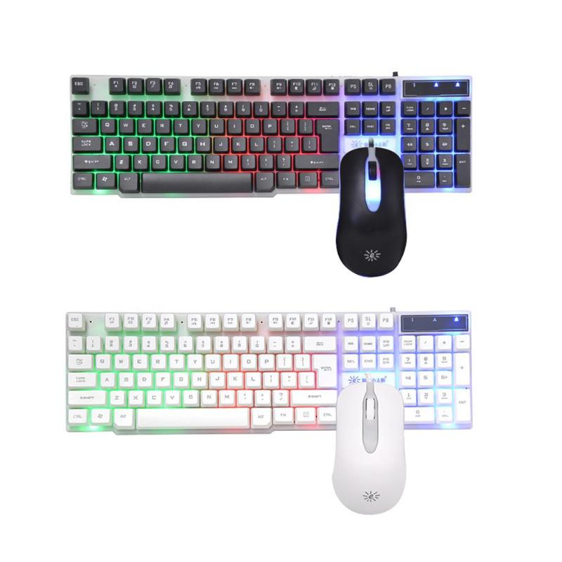 Sunrose T20 104 Keys Splashproof Usb Wired Keyboard & Mouse Set For Home Office Computer Game Keyboard And Mouse Combos For Ga