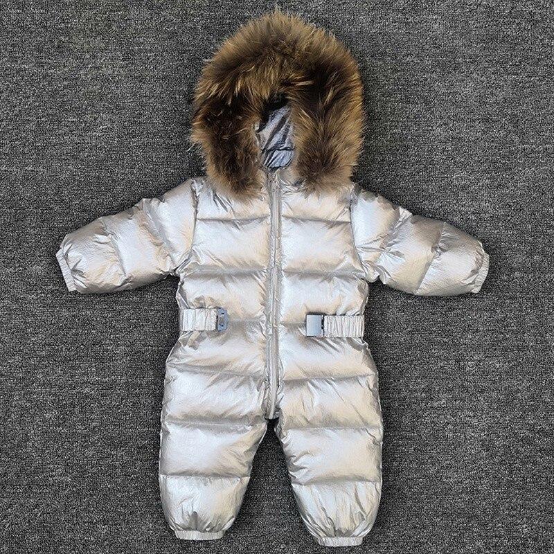 -30 degrés bébé fille combinaisons russie hiver bébé vêtements neige porter doudoune combinaisons de neige pour enfants manteaux garçons filles vêtements