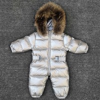 30 degrees baby girl jumpsuits Russia winter baby clothing snow wear down jacket snowsuits for kids coats boys girls clothes
