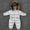 -30 graden baby meisje jumpsuits Rusland winter baby kleding sneeuw wear down jacket snowsuits voor kids jassen jongens meisjes kleding