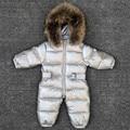 -30 gradi del bambino della ragazza tute Russia di inverno vestiti del bambino da neve usura del bambino down jacket snowsuits per i bambini cappotti delle ragazze dei ragazzi vestiti