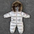 -30 grados bebé niña monos Rusia invierno ropa de bebé ropa de nieve abajo chaqueta trajes de nieve para niños abrigos niños niñas ropa