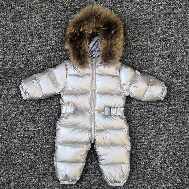 b25abe4da -30 degrees baby girl jumpsuits Russia winter baby clothing snow wear down  jacket snowsuits for kids coats boys girls clothes