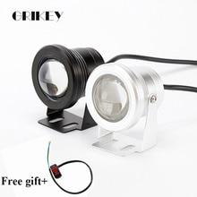 цена на 2PCS 10W LED Car Fog Light Lamp Round Headlight Spotlight For Car Motorcycle Waterproof DRL Daytime Running Lights White
