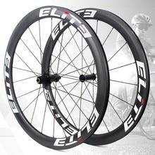 Elite UCI Quality Road Bike Carbon Wheelset 700c 3k Twill Carbon Rim Tubeless Ready With Sapim Secure Lock Nipple Road Cycling аксессуар elite vico carbon