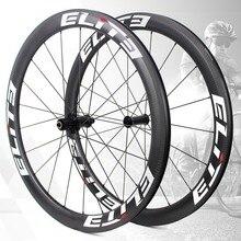 Элитный UCI качественный дорожный велосипед углеродная колесная 700c 3 k саржевая оправа бескамерная Готовая с Sapim безопасный замок ниппель столб 1423 спиц