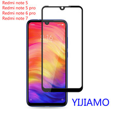 Full Glue Tempered Glass For Xiaomi Redmi Note 7 note 5 Cover 9H Protective film Screen Protector Note7 Note6 pro