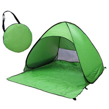 Beach Tent Ultralight Folding Tent Up Automatic Open Tent Family Tourist Fish Camping Anti-UV Fully Sun Shade Toy Tents(Green)(China)