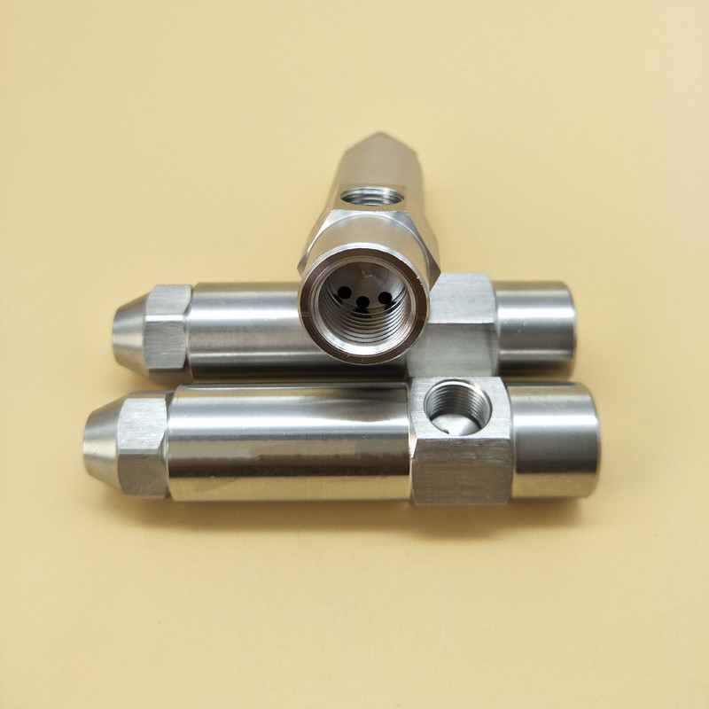 0 5mm1 0mm 1 5mm 2 0mm 3 0mm Stainless stee Fuel nozzle siphon air atomizing nozzle two fluid nozzle diesel heavy oil waste in Sprayers from Home Garden