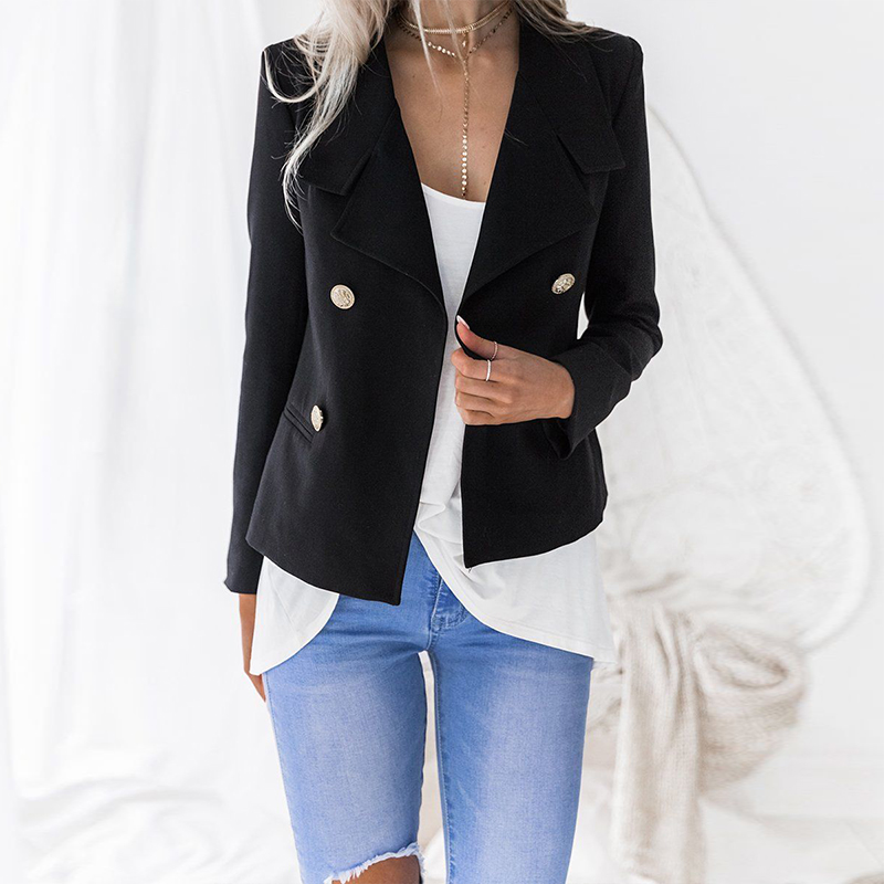 Fashion 2018 Women Blazers Autumn Jackets Work Office Lady Suit Slim None Button Business Blazers Female Blazer Thin Chaqueta