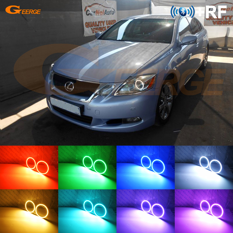 For LEXUS GS300 GS350 GS430 GS450 2006 2011 XENON headlight RF Bluetooth Controller Multi Color Ultra