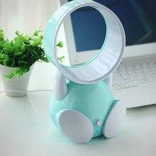5V Quạt Không Cánh Bladeless Fan USB Để Bàn Mini Fan Hâm Mộ Hoạt Hình Quý Di Động Nhỏ Quạt Điện Văn Phòng Họ Quạt Bàn AC