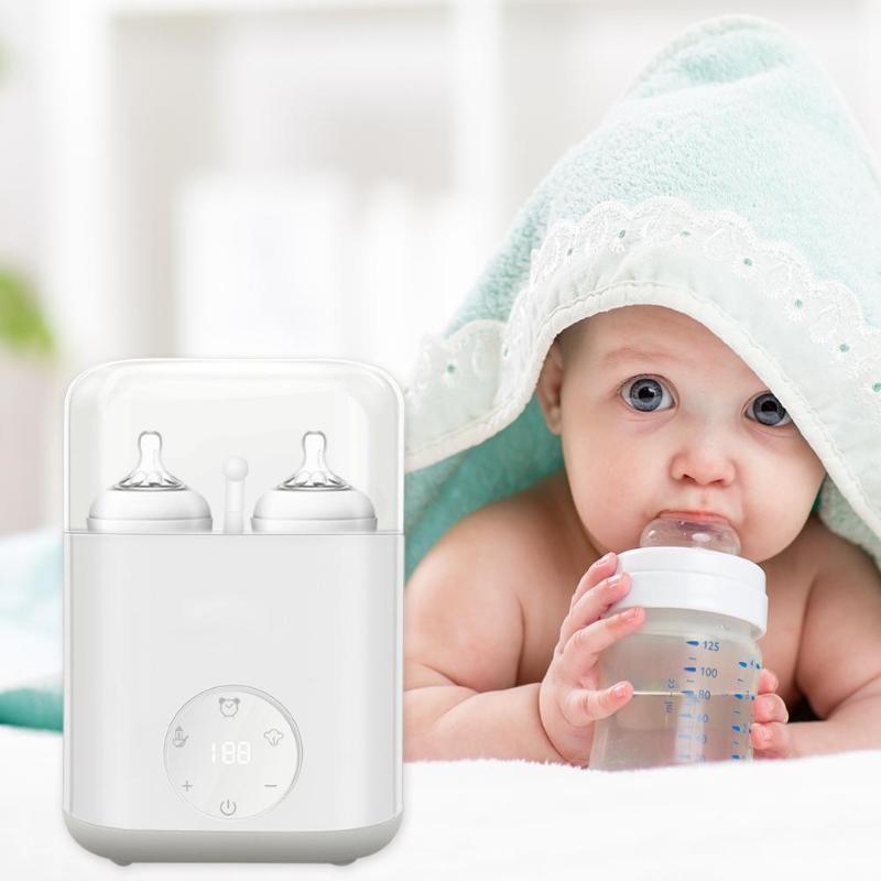 Newborn Baby Double Bottle Sterilizer Milk Warmer Heater for Baby Infant Breast Milk Feeding Constant Temperature Milk WarmersNewborn Baby Double Bottle Sterilizer Milk Warmer Heater for Baby Infant Breast Milk Feeding Constant Temperature Milk Warmers