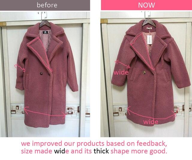 2018 new teddy coat faux fur long coat women lamb fur coat 4 color 5