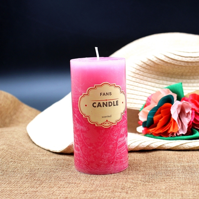 Scented Candle Crafts Column Paraffin Smokeless Scented Candles Fragrant Decorative for Party Home Decor 3