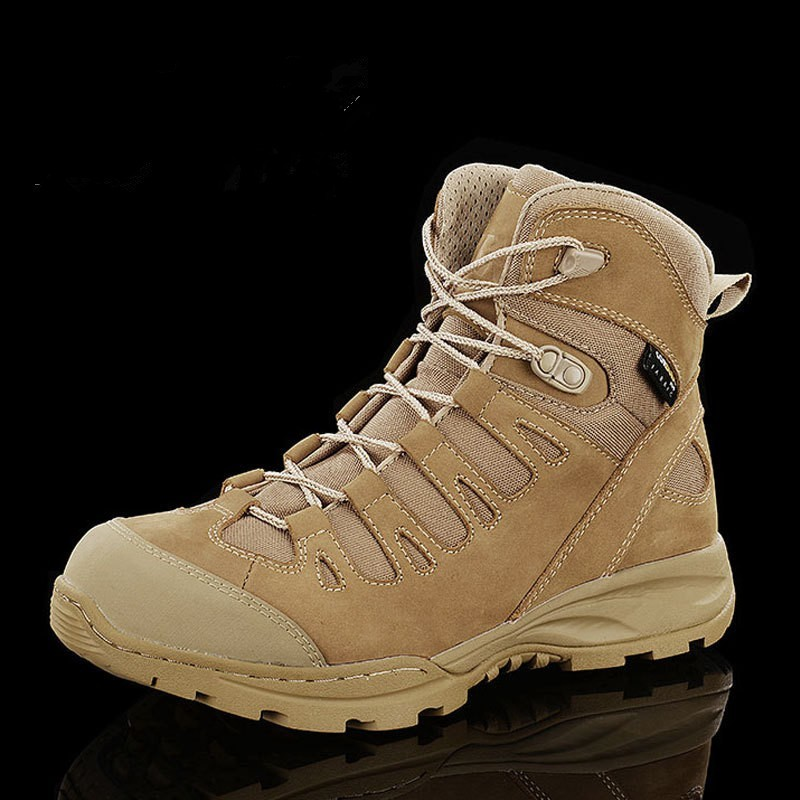 Tactical Men's 07 Desert Boots Combat Military Training Army Fans Male Outdoor Waterproof Non-slip Wear-resistant Hiking Shoes