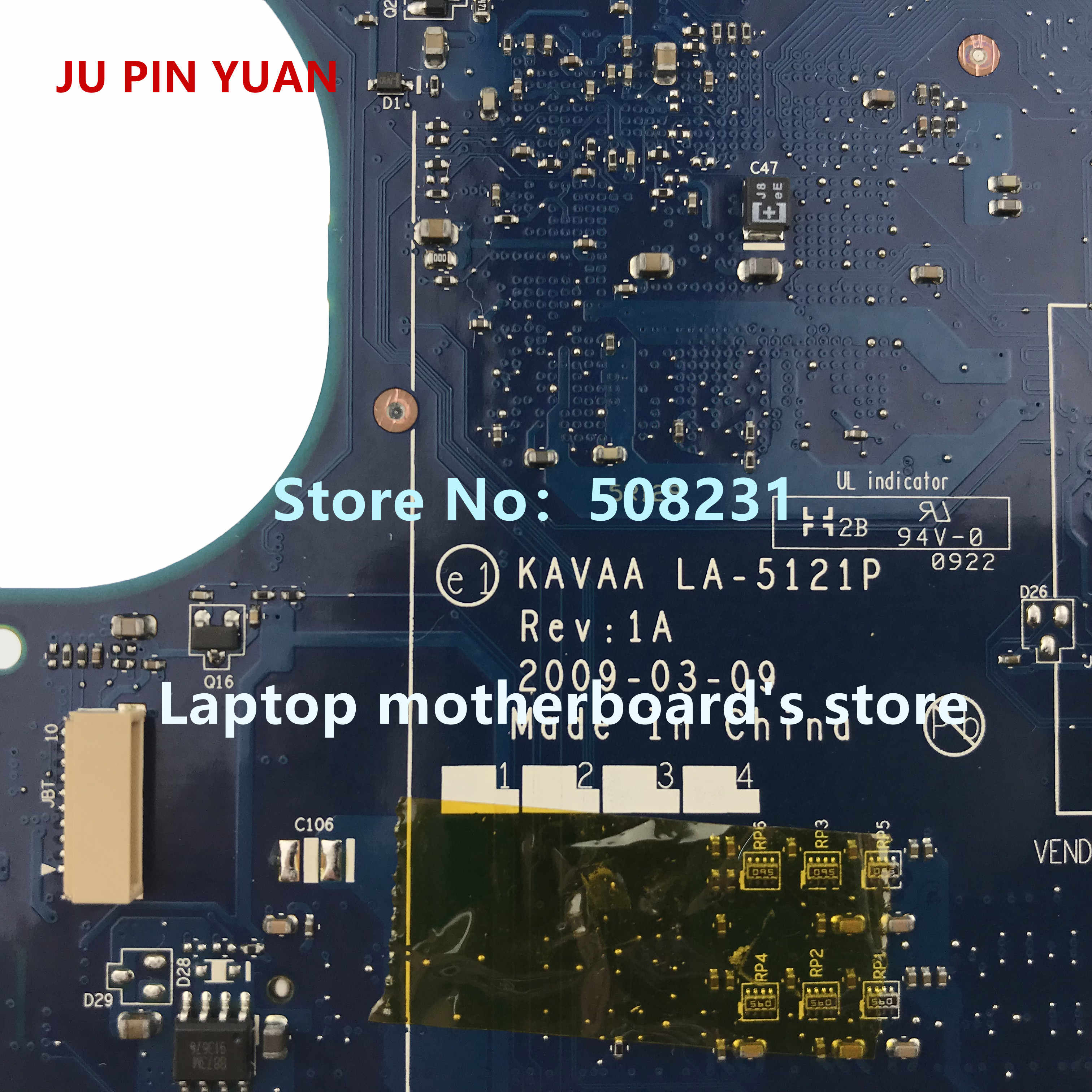 ג 'ו סיכה יואן עבור Toshiba מיני NB205 NB200 מחשב נייד האם K000078610 KAVAA LA-5121P עם N280 כל פונקציות נבדק באופן מלא
