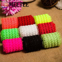 Meetee 5cm 5/10yard Frilly Lace Elastic Band Stretch Waist Belt Rubber Band Ribbon for Clothing Bags Trousers DIY Sewing AP525