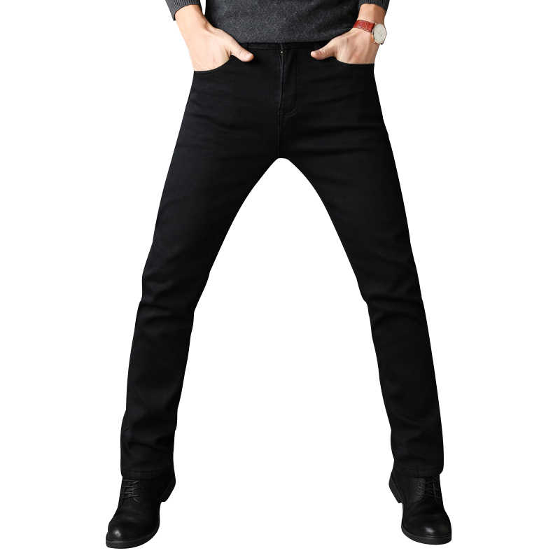 Men Stretch All Black Colors  Trousers Brand Clothing 2018 New Fashion Casual Denim Pants Male Quality