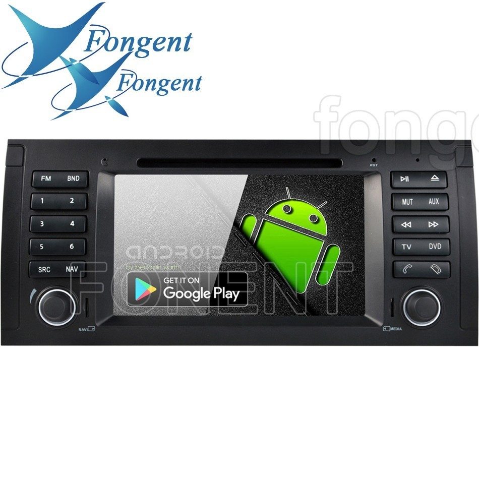 For <font><b>BMW</b></font> X5 E53 E39 <font><b>E38</b></font> M5 5 7 Series Multimedia <font><b>Radio</b></font> GPS Navigator Stereo Android 9.0 Eight Octa RK339 PX6 Car 1din DVD Player image