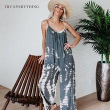 Print Boho Jumpsuit Women Summer 2019 Fashion Strap Backless Casual Female Long Pants Loose One Piece