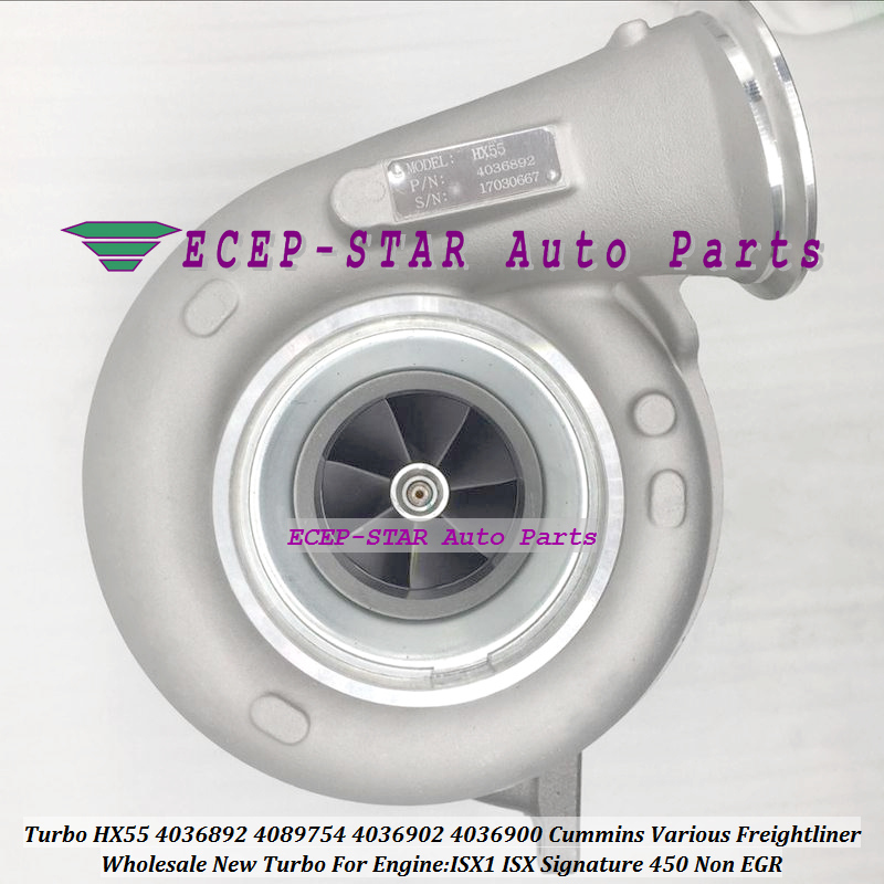 Turbo HX55 4036892 4089754 4036902 4036900 4089754 For Cummin*s Various Freight*liner ISX1 ISX Signature 450 Non EGR