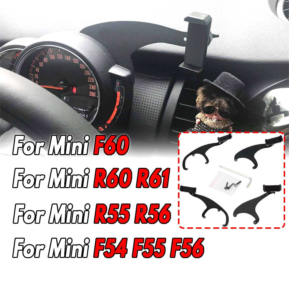 360° Rotation Mobile Cell Phone Cradle Holder For Mini Cooper R60 R61 Hot