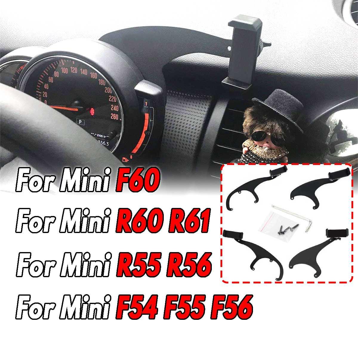 360 ° MINI Suporte do Telefone Montar Titular Telefone Móvel Do Carro Volante Auto Traseiro Para Mini Cooper R60 R61 R55 r56 F54 F55 F56 F60