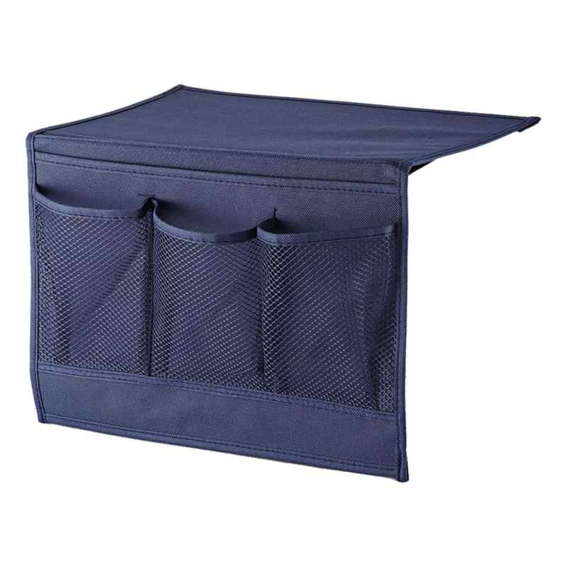 1 pieza de tela de fieltro bolsa de almacenamiento de noche contenedor organizador colgante para dormitorio coche sofá cama lateral rieles