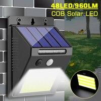 Großhandel Dropshipping 960LM 48LED COB LED Solar Wand Licht PIR Motion Sensor Pfad Yard Outdoor Sicherheit Lampe IP65 Wasserdicht