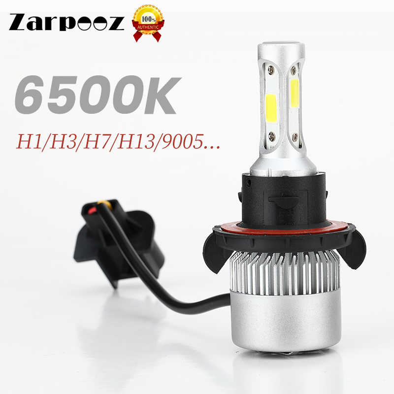 Zarpooz S2 Auto Headlights Bulbs LED 6000K H1 H3 H4 LED H7 H8 H9 H11 880 881 9004 9005 9006 9007 80W One Pair Car Lights Bulbs