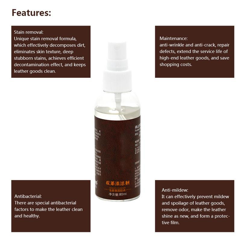 Cool Us 3 4 17 Off Car Accessories 80Ml Leather Cleaner Leather Sofa Bag Car Leather Care Oil Stain Removal Cleaning Tools In Spot Rust Tar Spot Creativecarmelina Interior Chair Design Creativecarmelinacom