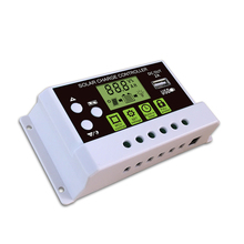 купить XINPUGUANG 20A Solar Charge Controller PWM With LCD Dual USB 5V Output Solar Cell Panel Regulator PV Home дешево