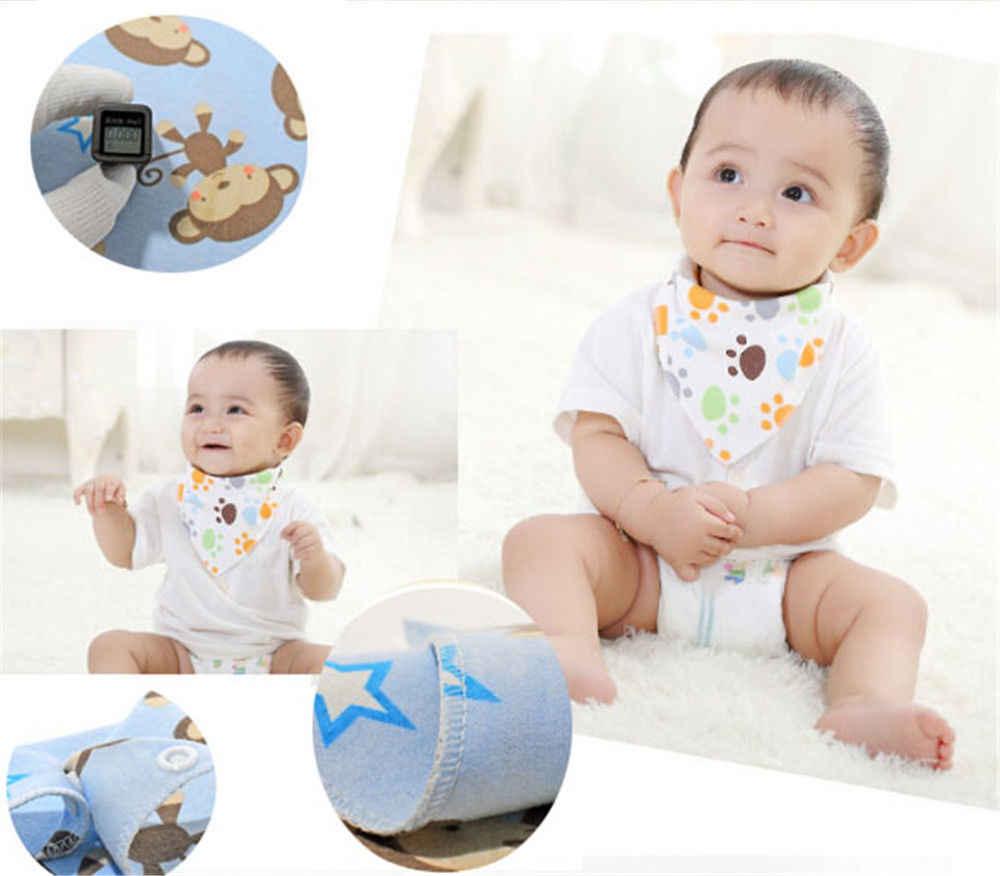 Crianças de alta qualidade babadores do bebê alimentação dos desenhos animados animal impressão toalha menino & menina bebê bandana babadores triângulo dribble cabeça cachecol do bebê