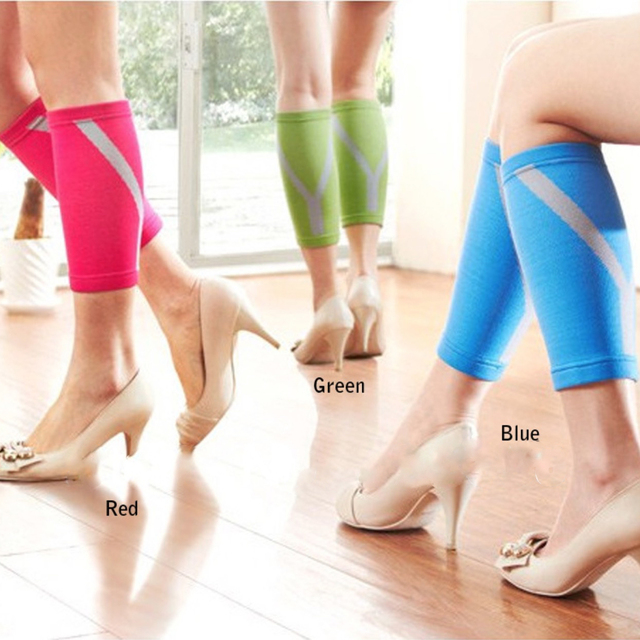 Colorful Women's Calf Compression Sleeves- 3 Colors