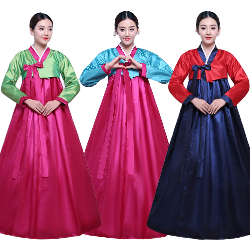 Wedding Evening Party Wear Korean Traditional Costumes Woman Korean Hanbok Dress New Year Asain Oriental Cosplay Costumes