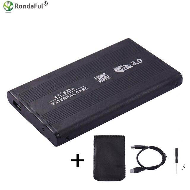 Carcasa USB 3,0 HDD Caddy 2,5 pulgadas SATA SSD caja de disco móvil fundas para ordenador portátil Disco Duro 2,5 hdd case3.0 hdd carcasa para Windows/Mac