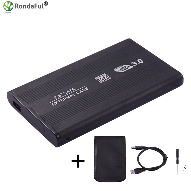 USB 3.0 HDD Caddy Enclosure 2.5inch SATA SSD Mobile Disk Box Cases laptop hard drive 2.5 hdd case3.0 hdd Housing for Windows/Mac