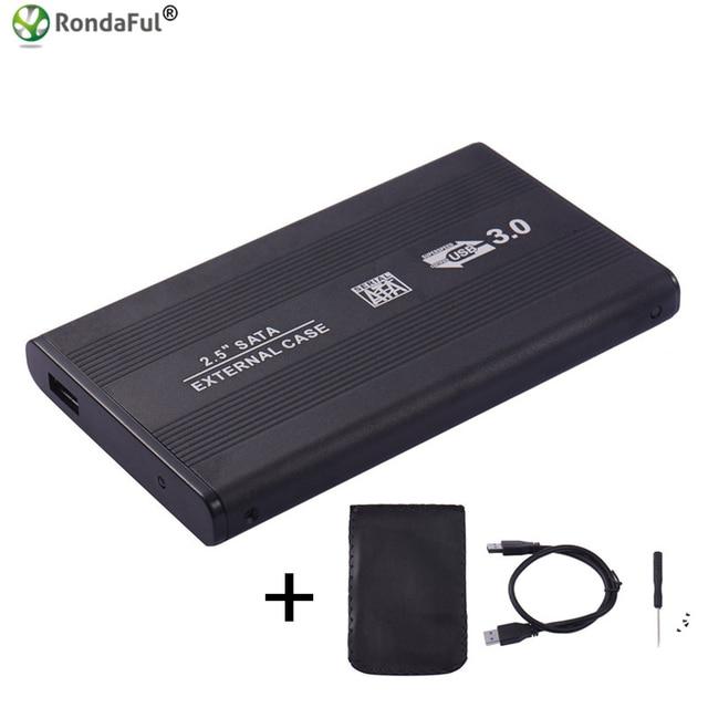 USB 3,0 HDD Caddy carcasa 2,5 pulgadas SSD SATA disco móvil caja casos disco duro portátil 2,5 hdd case3.0 hdd vivienda para Windows/Mac