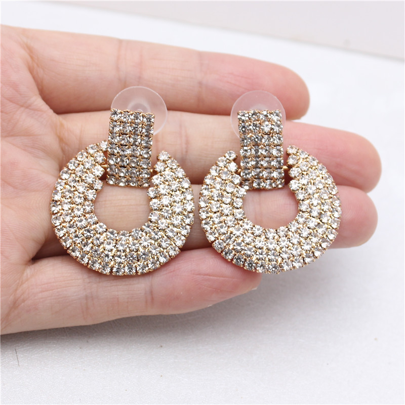 2019 New Design Fashion Jewelry Simple Earrings Round Full