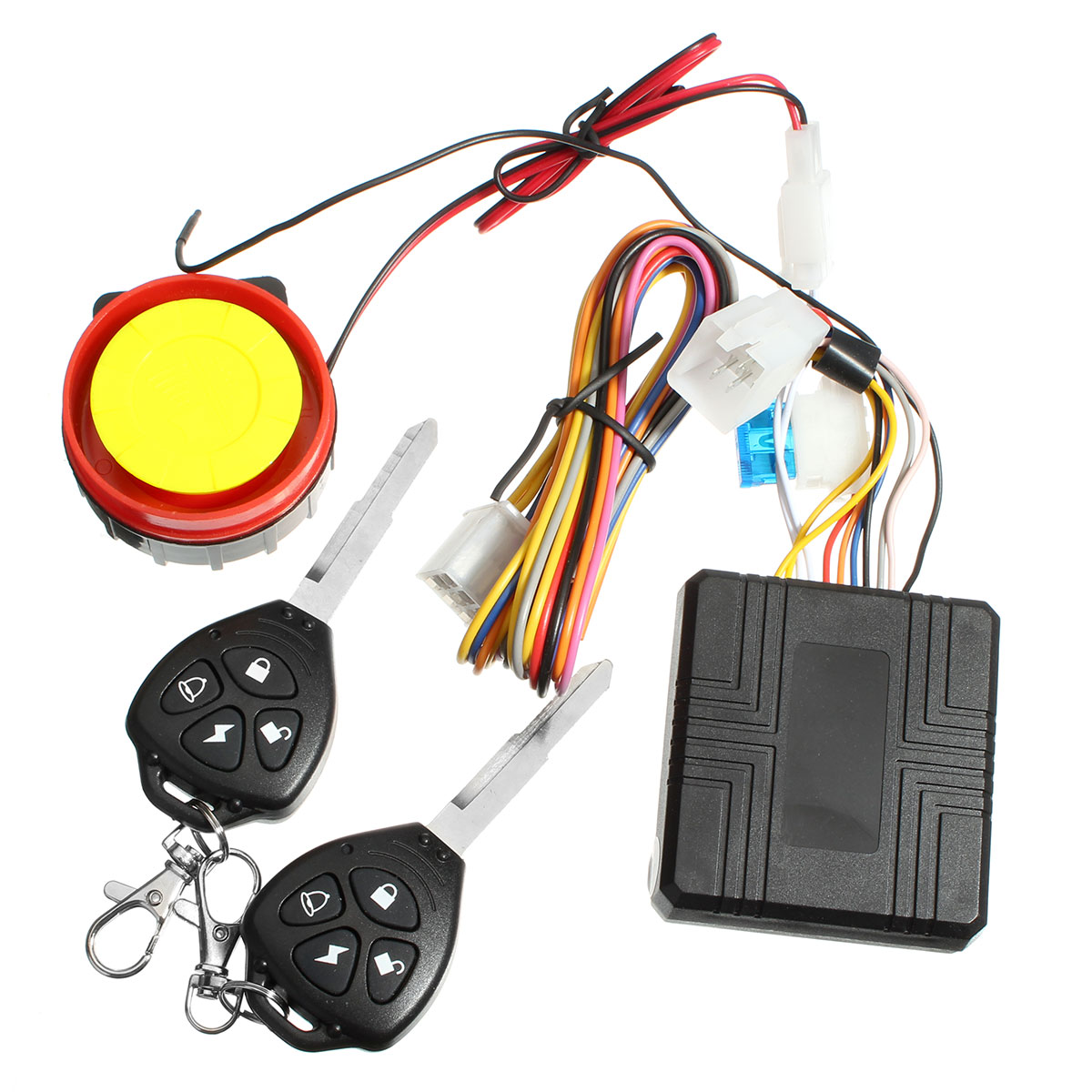 Theft Protection Remote Activation Motorbike Alarm Accessories motorcycle Remote Control + key