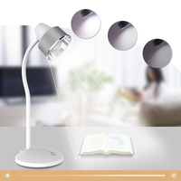 LED Touch Switch Desk Lamp Flexible Eye Protection Reading Light 18650 Li ion Battery Rechargeable Dimmer USB Led Table Lamps