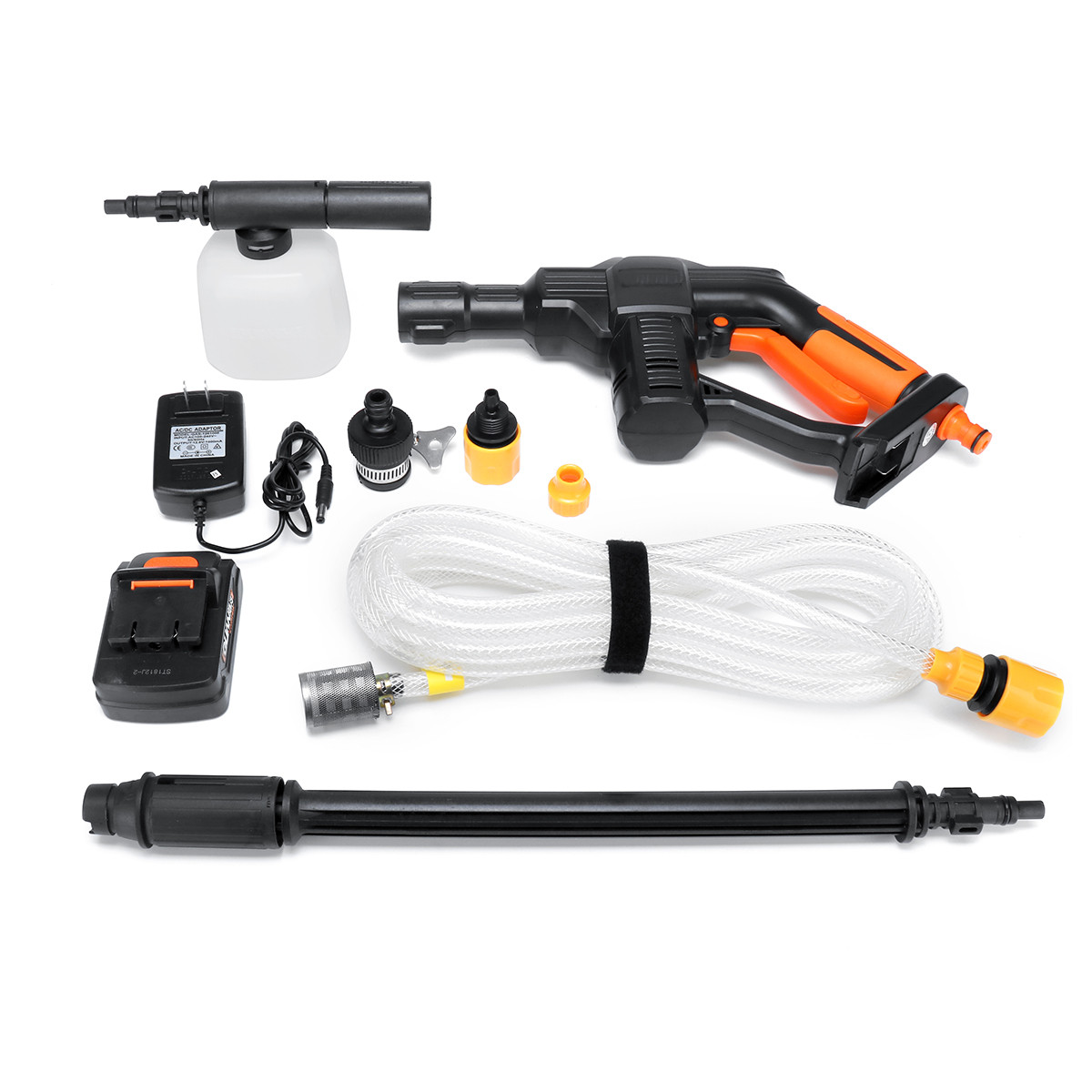 21V Wireless High Pressure Cleaner Universal 1/4 Fitting Cordless Portable Pressure Cleaner Auto Car Wash Maintenance Tool