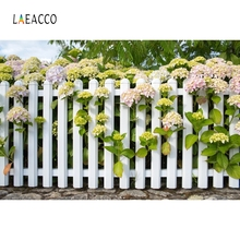 Laeacco Garden Fence Sunflower Flowers Backdrop Photography Backgrounds Customized Photographic For Photo Studio
