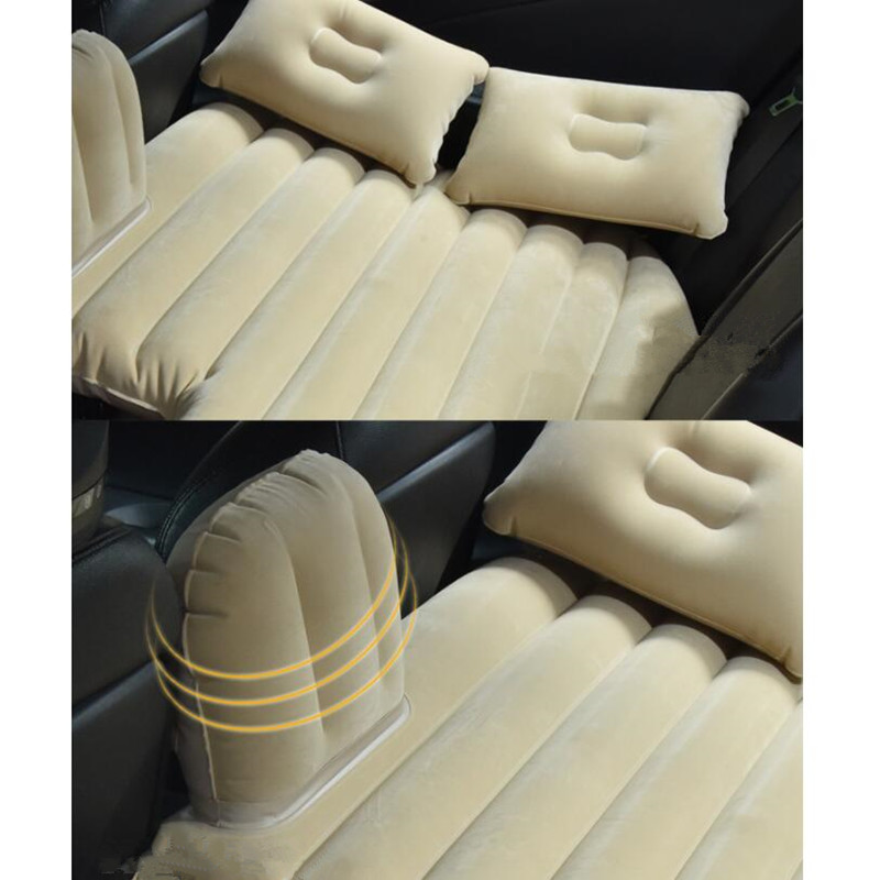 Car Travel Bed Camping Inflatable Sofa Automotive Air Mattress Rear Seat Rest