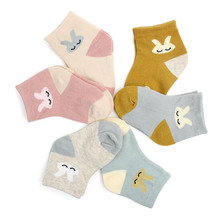 1 Pair Spring And Autumn Fashion Cute Animals Children Socks Small Rabbit Cartoon Baby Sock No-slip Infant Cotton 0-1 year