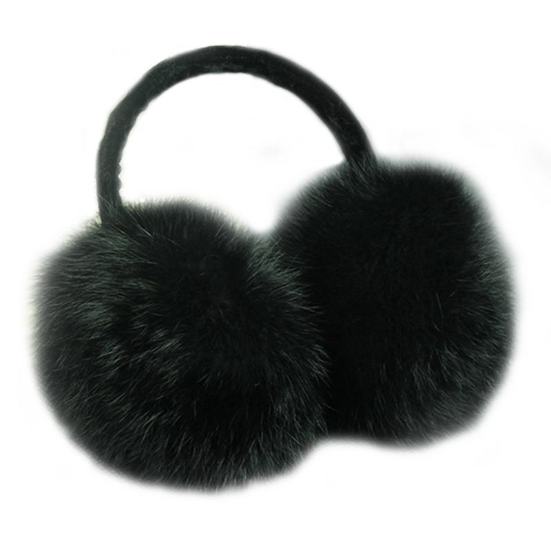 Rabbit Faux Fur Warm Earmuffs for Skiing Riding Hiking Outdoor Winter Earmuffs