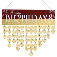 2018 DIY деревянный висит календари Семья Друзья День рождения Дата напоминание вывеска планировщик корейский Офис Декор поставки