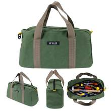 Multi-function Canvas Waterproof Storage Hand Tool Bag Portable Tool kit Wrenches Screwdrivers Pliers Metal Parts Storage Bag(China)